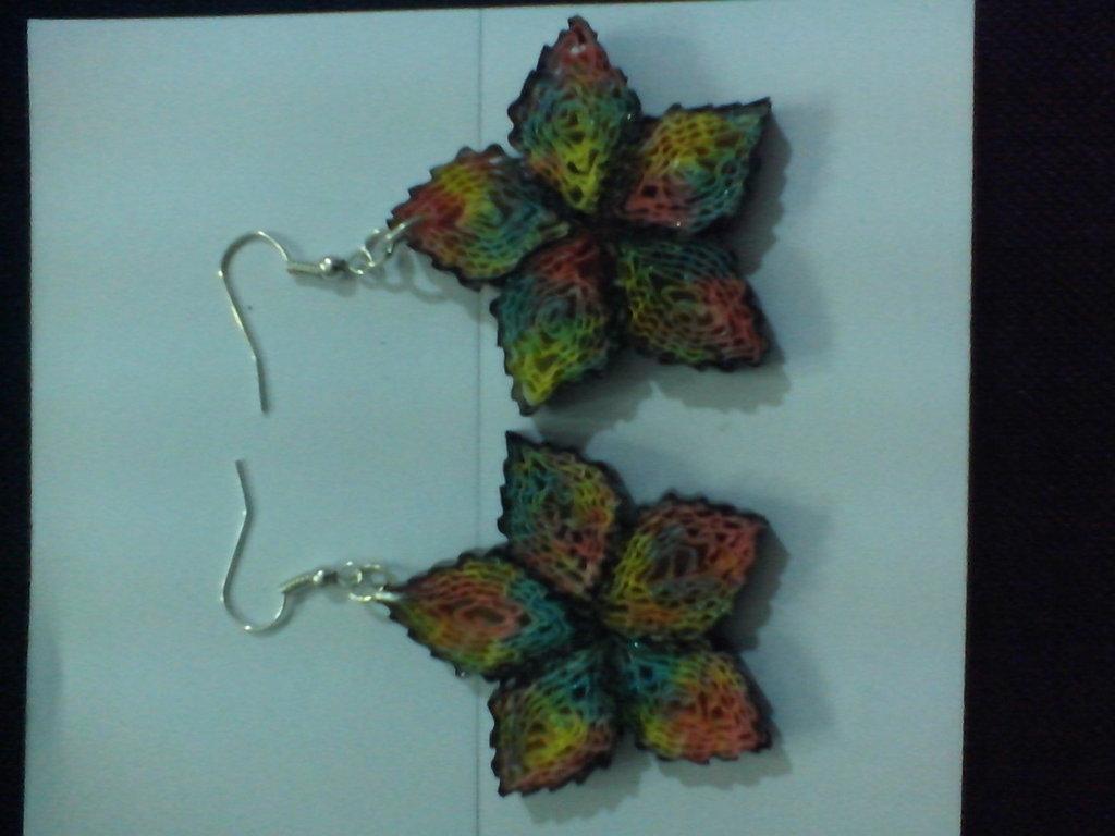 orecchini quilling paper (carta) forma di fiori