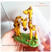 Bomboniera cake topper segnaposto matrimonio giraffe