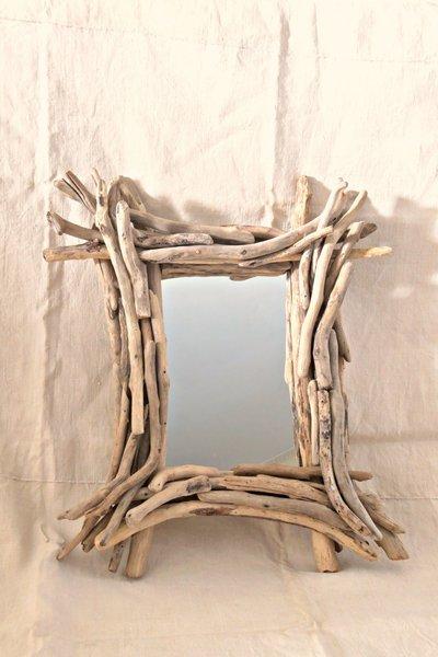 Specchio ALBERT con legni di mare - Per la casa e per te - Arredam...  su Mi...
