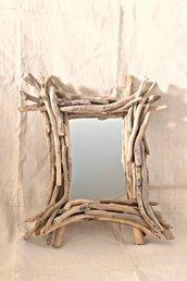 Specchio ALBERT con legni  di mare