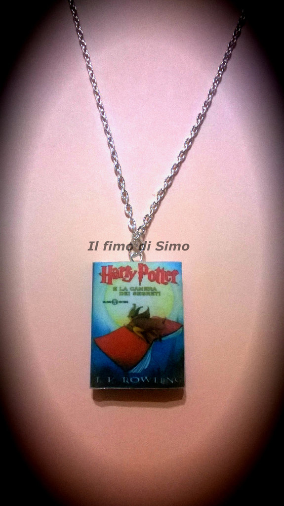 collana libricino harry potter in fimo