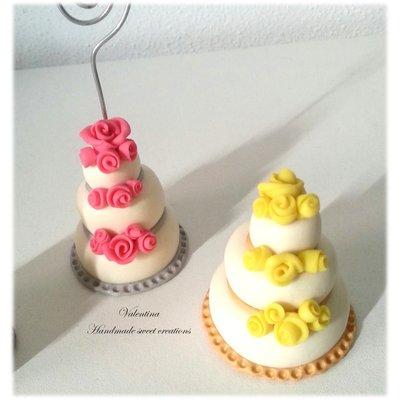 Mini wedding cake, segnaposto matrimonio torta