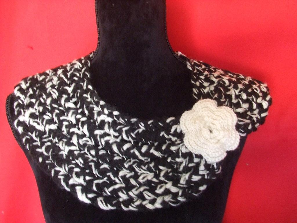 scalda collo collo cappa maglia donna lana