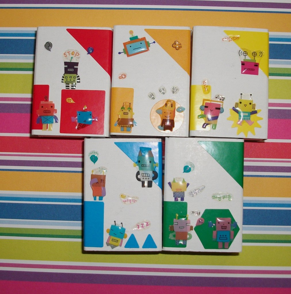 Scatoline decorate per regali - Packaging - Lotto *Robot 2* (5pz)