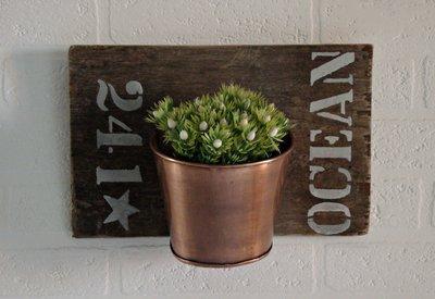 Portavaso da parete su tavola in legno di mare decorata a mano pe su misshobby - Portavaso da parete ...