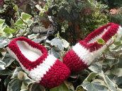 scarpe pantofole in lana