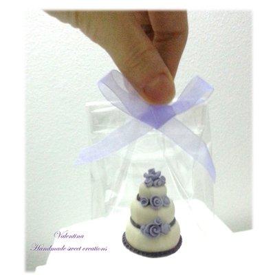 Segnaposto Matrimonio Mini Torte.Mini Wedding Cake Segnaposto Matrimonio Torta Rose Lilla Feste