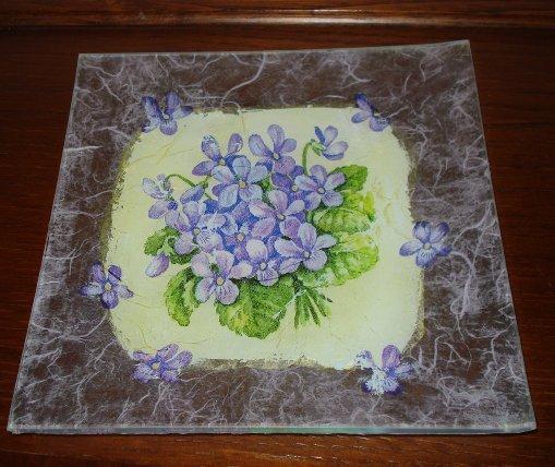Piatto decorato in vetro - Per la casa e per te - Cucina - di Decor ...