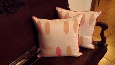 Cuscini in cotone e poliestere