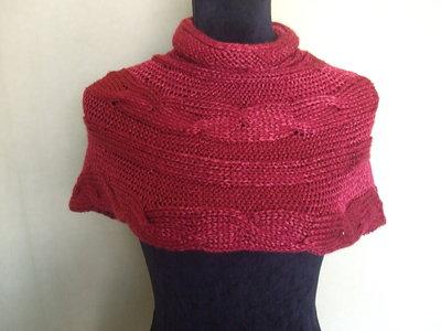 cappa scalda collo copri spalle lana maglia donna