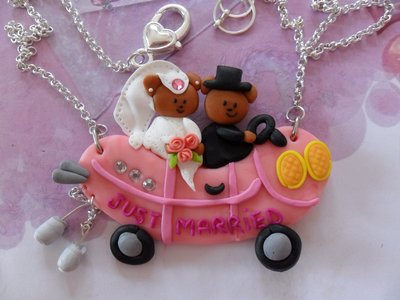 "COLLANA SPOSI  "" JUST MARRIED """