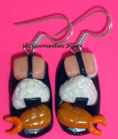 orecchini sushi fimo cernit