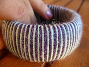 Braccialetto rigido in lana - Wool bangle