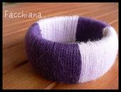 Braccialetto rigido in lana - Wool bangle #2
