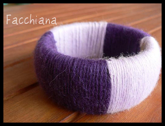 Braccialetto rigido in lana - Wool bangle #2