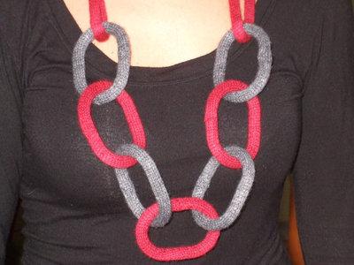 collana maglia anelli