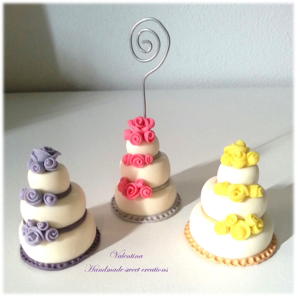 25 mini wedding cake rose Segnaposto matrimonio