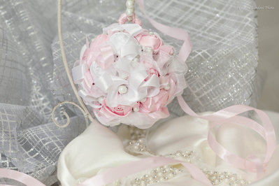 BOUQUET GIOIELLO SPOSA ROSE RASO