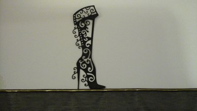 20 sagome stivale elegante in cartoncino nero...