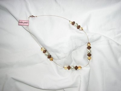 Collana perle cristalli