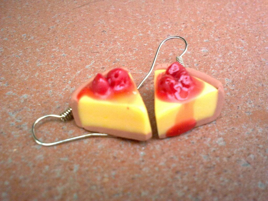 orecchini CHEESECAKE con glassa alle fragole