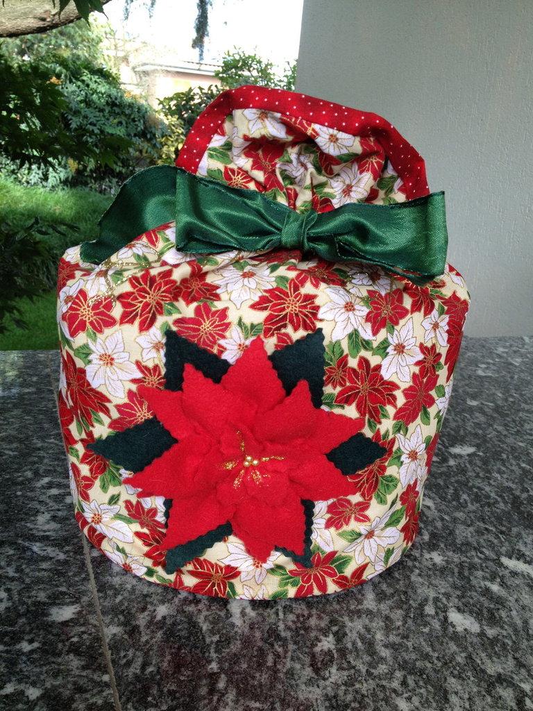 Natale - porta panettone stella di Natale