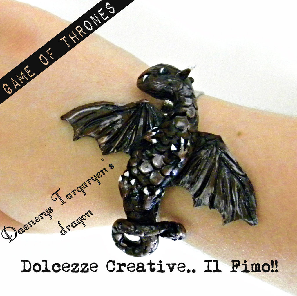 Daenerys Targaryen's dragon Drago Bracciale Game of Thrones idea regalo cute handmade