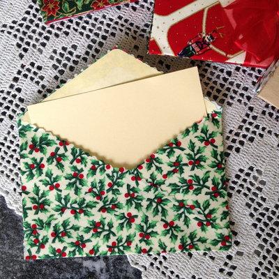 Natale - Buste auguri rivestite in tessuto