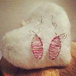 pesciolini gioiosi: orecchini pendenti realizzati in rame argentato e colorato