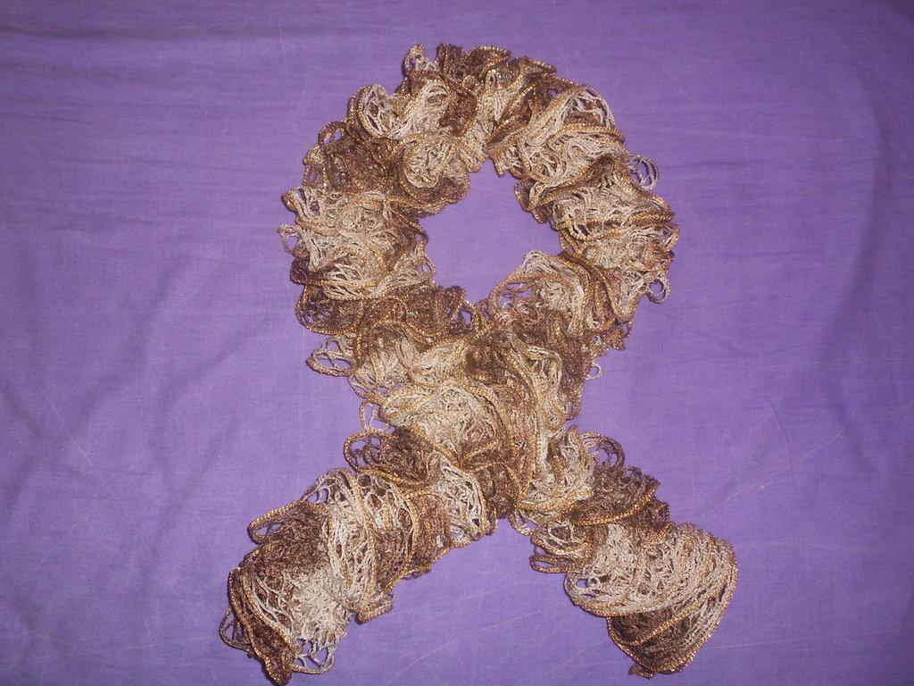 Sciarpa Crochet - Maglia Traforata ORO