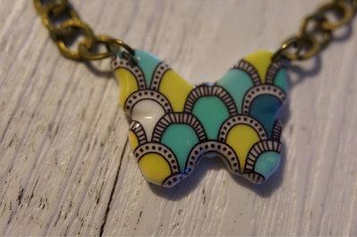 Braccialetto Lime Butterfly in ceramica - un aiuto agli animali abbandonati