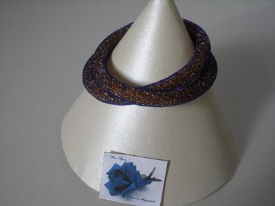 Collana - Bracciale Tubolare Blu