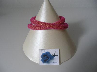 Collana - Bracciale Tubolare Rosa