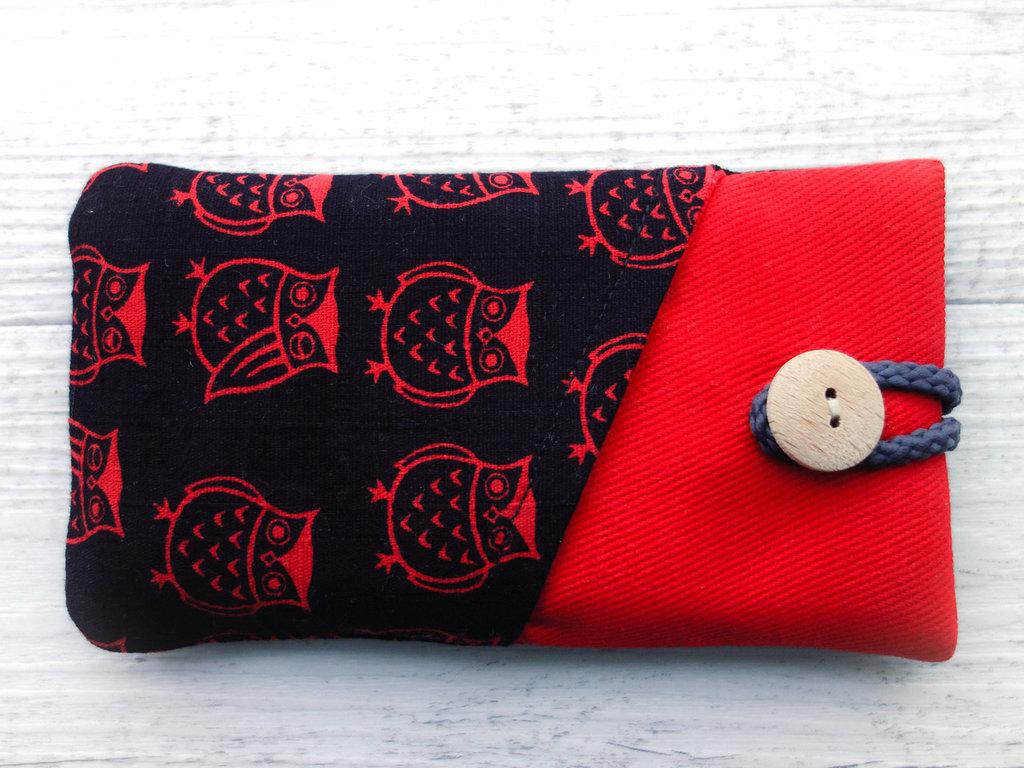 Cover custodia per SMARTPHONE imbottita in tessuto Lots of Owls! - scegli il modello