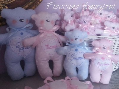 set famiglia orsetti