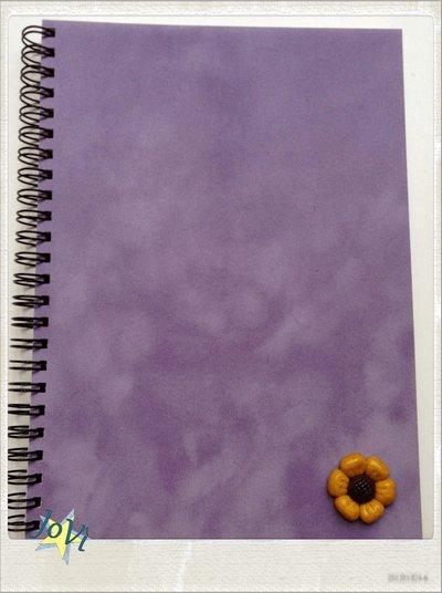 Quaderno artigianale con girasole formato A5 (21x15 cm)