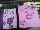 album personalizzato in carta naturale con scatola
