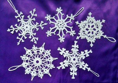 Fiocchi di neve decorazioni di natale fatti a mano