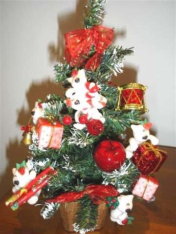 JUST XMAS - NATALE FIMO - ALBERO di NATALE già ADDOBBATO con PEEK A BULL TERRIER - PREPARIAMO l'ALBERO di NATALE !!  - idea regalo, decorazione, segnaposto, centrotavola