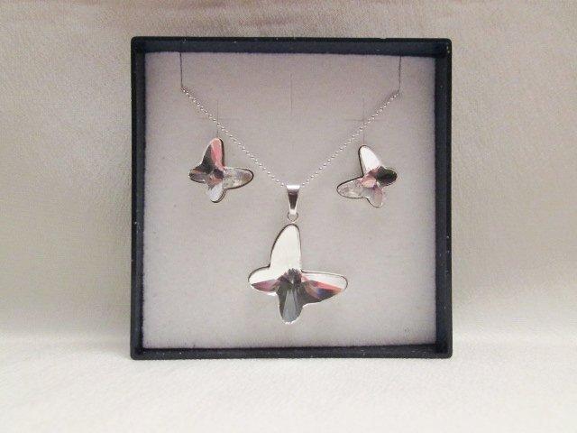 """Farfalle"" - Parure in cristallo Swarovski ed argento 925"