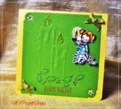 CARD NATALIZIA CON CANDELE