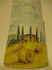 coppo paesaggio toscana bomboniera ceramica