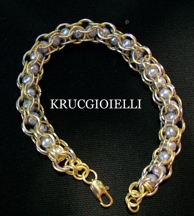 bracciale captive inverted round chainmaille