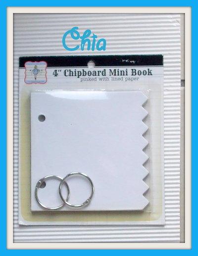 1 mini book per scrap da decorare 10x10cm