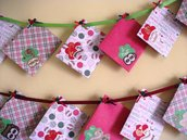 Calendario dell'Avvento Ghirlanda di Sacchettini Regalo per Natale - Sacchettini Natalizi in Scrap^^ (24pz completo)