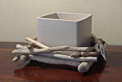 VASO con legni di mare