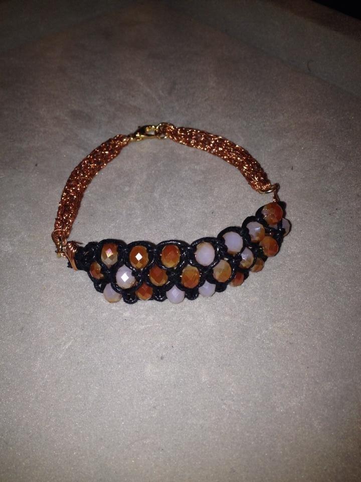 Mezzo bracciale di cristalli con doppia maglia - Serie Crystal