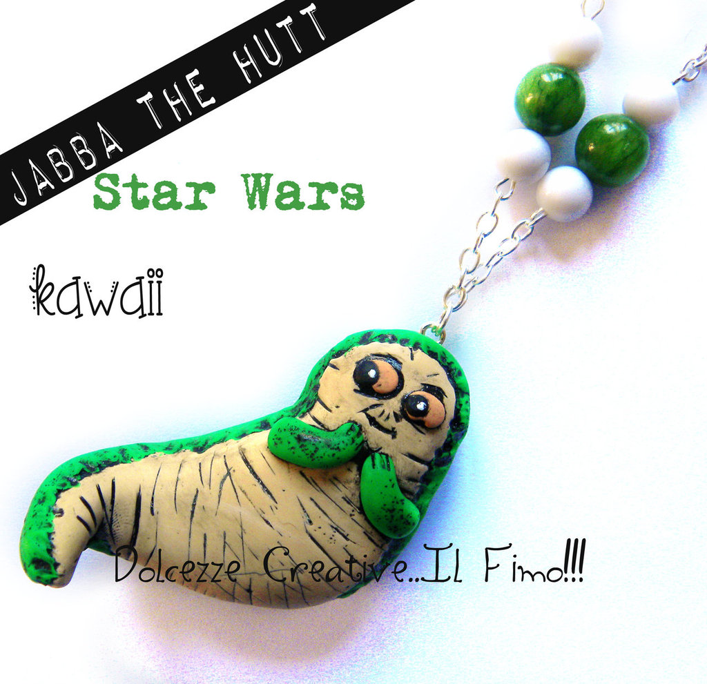 Collana Star Wars Jabba the Hutt  VERSIONE KAWAII Guerre Stellari idea regalo