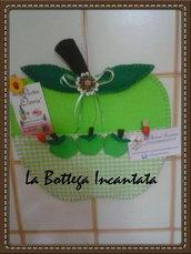 Mela verde portamemo in feltro