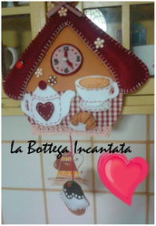 Tea time - decorazione da parete in feltro